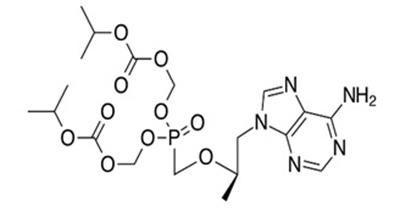 Cấu trúc của Tenofovir disoproxil fumarate