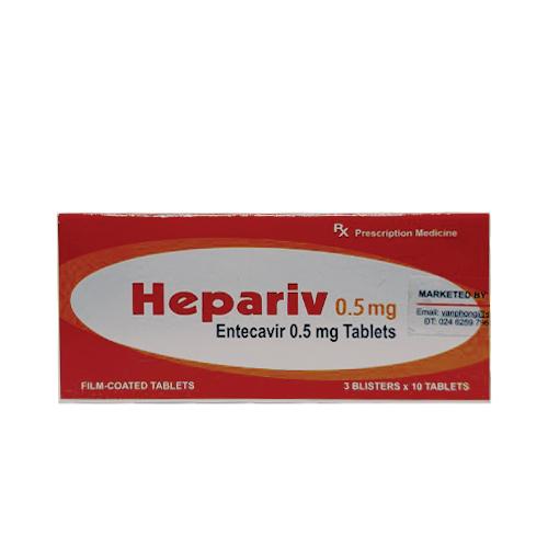 Thuốc Hepariv 0,5mg (Hộp 30 viên)