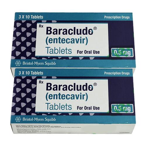Thuốc Baraclude 0,5mg (Entecavir 0,5mg ) Hộp 30 viên
