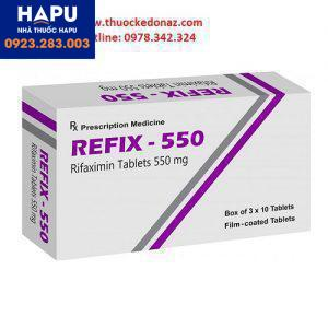 Thuốc Refix 550 - thuốc rifaximin điều trị não gan, ruột kích thích
