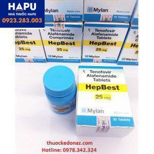Thuốc Hepbest 25mg điều trị viêm gan B
