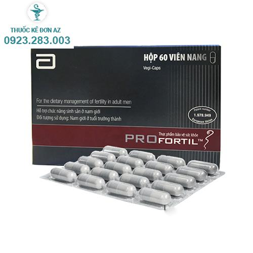 Thuốc Profortil - Thuốc bổ tinh trùng (Hộp 60 viên)