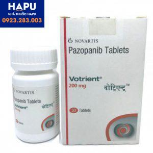 Thuốc Votrient 200mg giá bao nhiêu?
