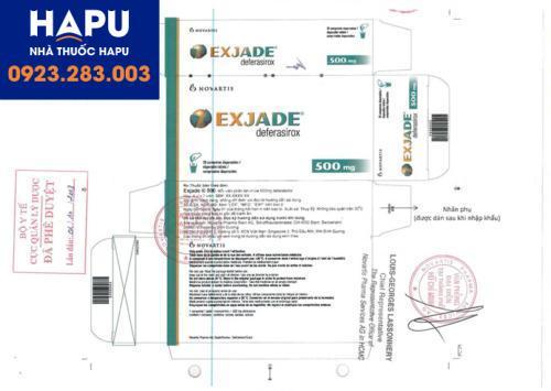 Thuốc Exjade nhập khẩu chính hãng