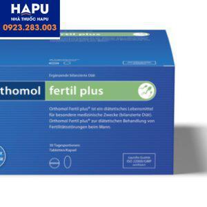 Thuốc Orthomol Fertil Plus – Thuốc tăng cường chất lượng tinh trùng