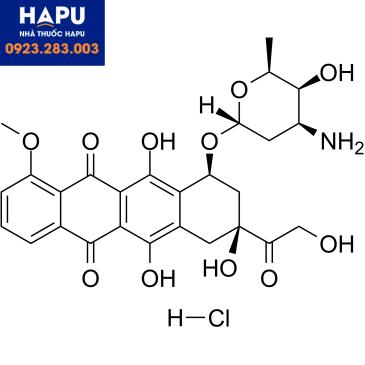 Cấu trúc Doxorubicin hydroclorid