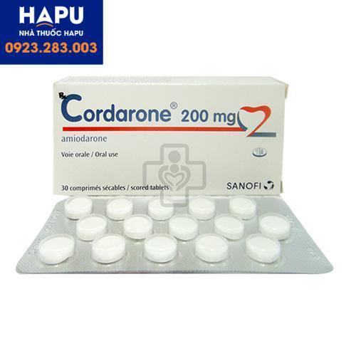 Gía thuốc Cordarone 200mg bao nhiêu? Bán ở đâu? Mua ở đâu Hà Nội?