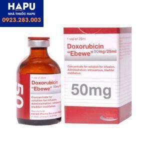 Thuốc Doxorubicin Ebewe 10mg_5ml - Doxorubicin hydroclorid 10mg