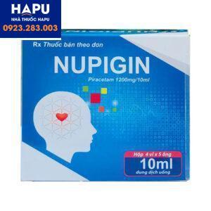 Thuốc Nupigin - Thuốc cải thiện chức năng não bộ (Hộp 20 ống)