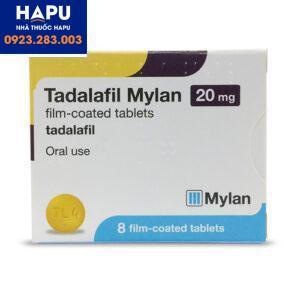 Thuốc Tadalafil Mylan - Thuốc cường dương (Hôp 4 viên)
