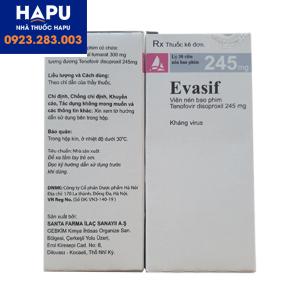 Thuốc Evasif điều trị viêm gan B và HIV có hiệu quả không, có tốt không