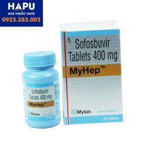 Thuốc Myhep Sofobusvir 400mg công dụng cách dùng giá bán mua thuốc ở đâu