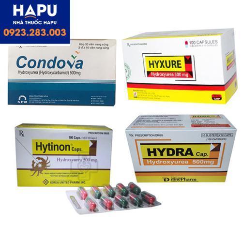 Thuốc hydroxyurea 500mg Condova Hytinon Hyxure Hydra hydroxyure hiện đang hết hàng