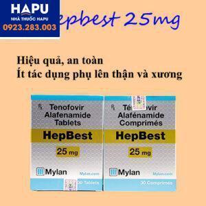 Thuốc Hepbest 25mg điều trị viêm gan B ít tác dụng phụ lên thận và xương
