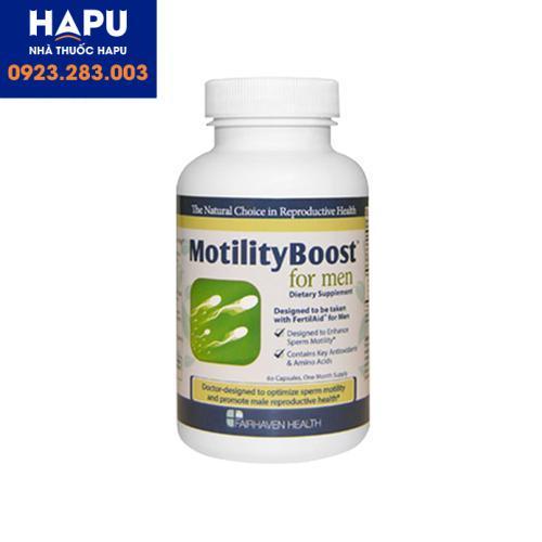 Thuốc MotilityBoost For Men giá bao nhiêu