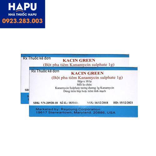thuốc Kacin Green giá bao nhiêu, giá bán