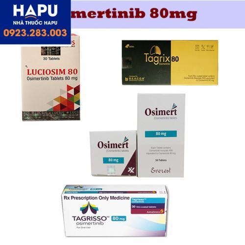 Các thuốc có hoạt chất osimertinib 80mg