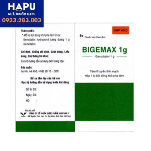 Thuốc Bigemax 1g giá bao nhiêu