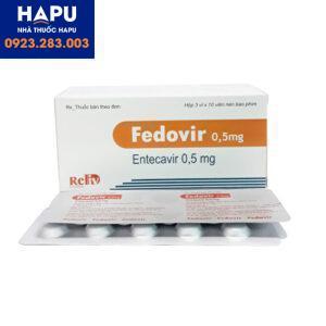 Thuốc Fedovir 0.5mg giá bao nhiêu?