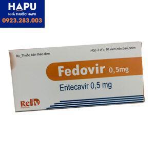 Hướng dẫn sử dụng thuốc Fedovir 0.5mg
