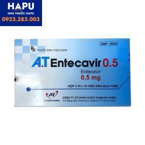 giá thuốc at entecavir 0.5 mg