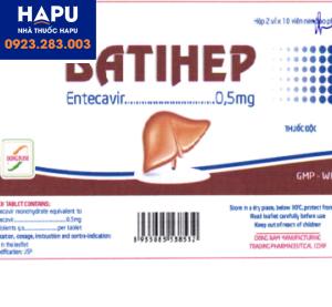 Thuốc Batihep 0.5mg chính hãng giá tốt mua ở đâu tại Hà Nội, tp.HCM?