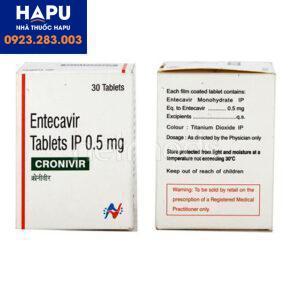 Hướng dẫn sử dụng thuốc Cronivir 0.5mg