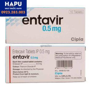 Thuốc Entavir 0.5mg chính hãng giá tốt, mua ở đâu tại Hà Nội
