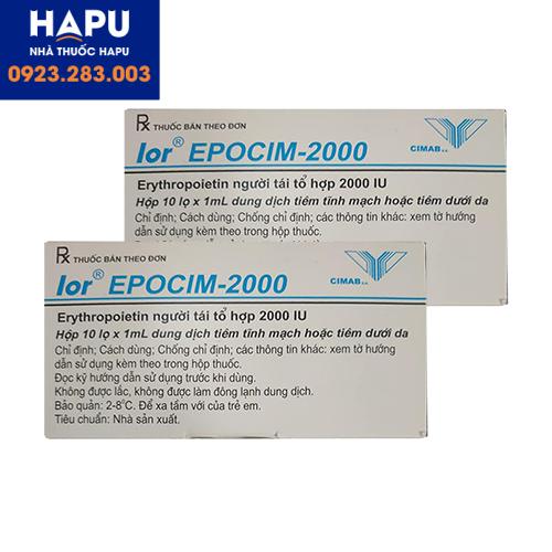 Thuốc lor EPOCIM 2000 giá bao nhiêu