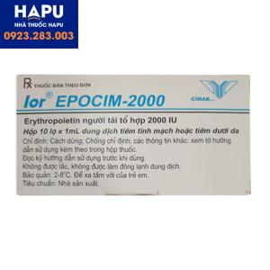 Thuốc lor EPOCIM 2000 mua ở đâu uy tín