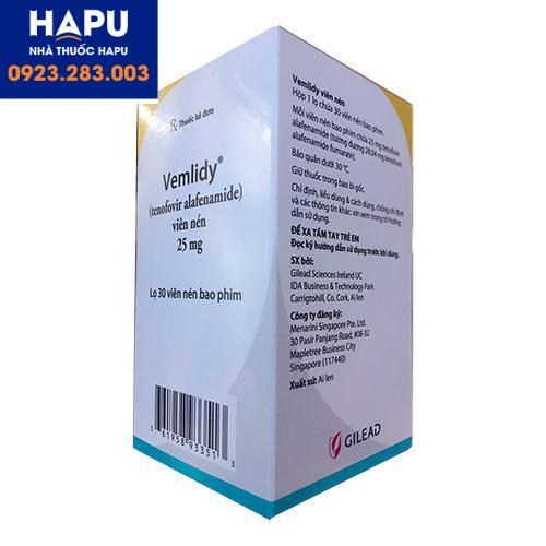Thuốc Vemlidy có tác dụng phụ gì