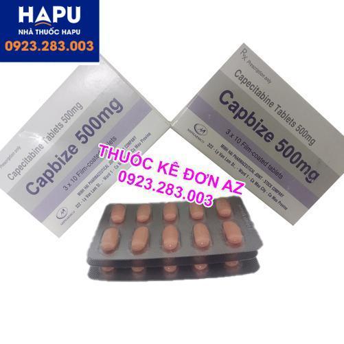 Thuốc Capbize 500mg công dụng liều dùng