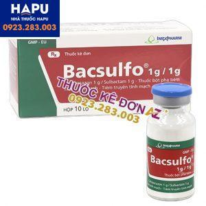Thuốc Bacsulfo 1g/0.5g công dụng cách dùng