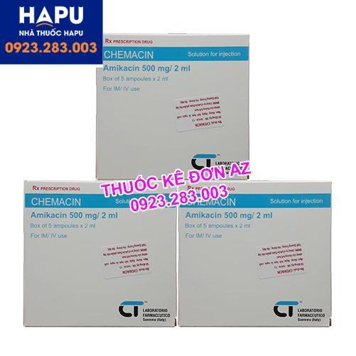 Thuốc Chemacin 500mg/2ml công dụng liều dùng