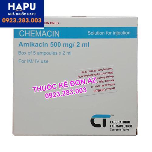 Thuốc Chemacin 500mg/2ml giá bao nhiêu
