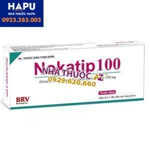 Thuốc Nokatip 100 công dụng cách dùng
