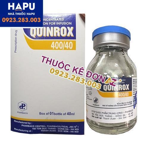 Thuốc Quinrox 400/40 công dụng cách dùng