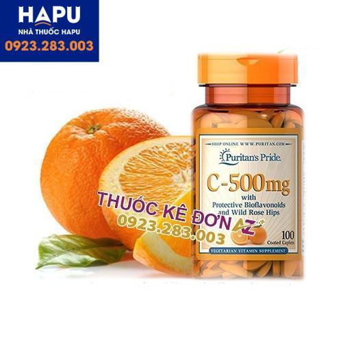 vitamin C 500mg Puritans Pride công dụng cách dùng