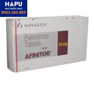 Thuốc Afinitor 10mg giá bao nhiêu