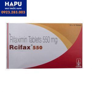 Thuốc Rcifax 550 công dụng cách dùng