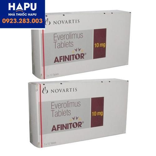 Thuốc Afinitor 10mg công dụng cách dùng