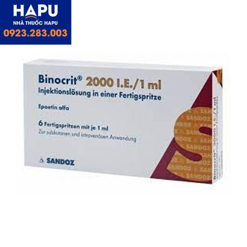 Thuốc Binicrit 2000 IU/1ml công dụng cách dùng